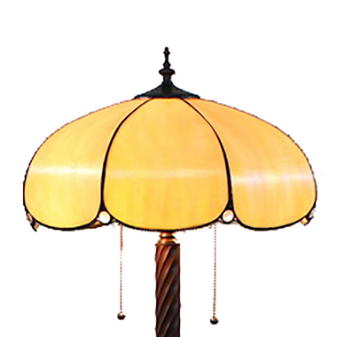 FL180013 18 inch Two lights resin base  Bake bend  Glass sheet Tiffany floor lamp stained glass floo