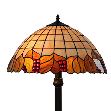 FL180011 18 inch Two lights resin base   Tiffany floor lamp stained glass floor lamp from China18