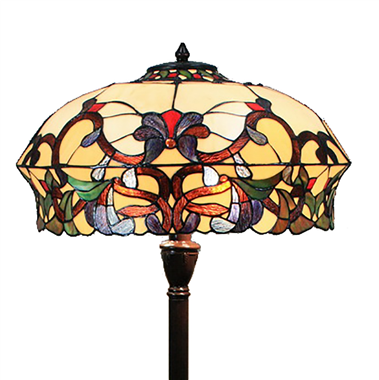 FL180009 18 inch Two lights resin base  Tiffany floor lamp stained glass floor lamp from China18