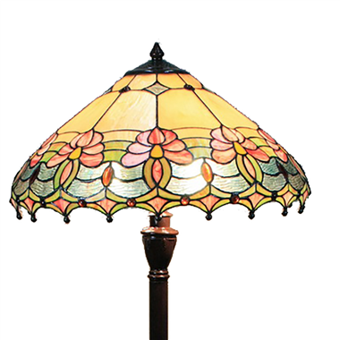 FL180006 18 inch Two lights resin base  Tiffany floor lamp stained glass floor lamp from China18
