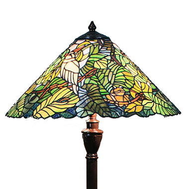 FL180005 18 inch Two lights resin base  Tiffany floor lamp stained glass floor lamp from China18