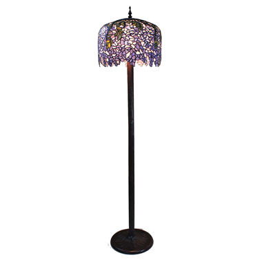 FL180003 18 inch Two lights resin base  Tiffany floor lamp stained glass floor lamp from China18
