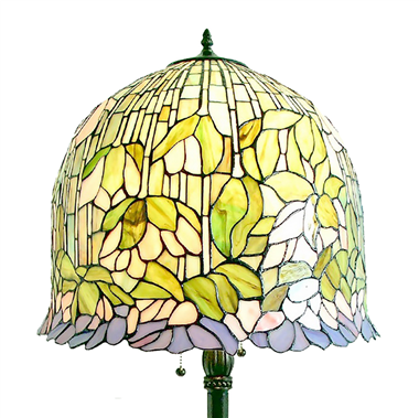 FL180002 18 inch Two lights resin base  Tiffany floor lamp stained glass floor lamp from China18
