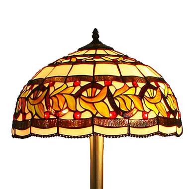 FL180001 18 inch Two lights resin base  Tiffany floor lamp stained glass floor lamp from China18