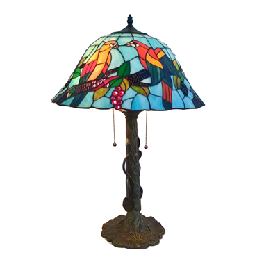 TL180002 18inch love bird tiffany table lights tiffany table lamp from Jiufa