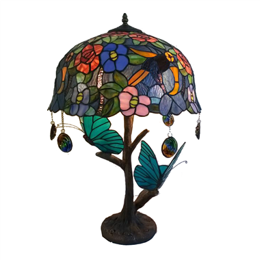 TL180003 18inch butterfly and flower tiffany table lights tiffany table lamp from Jiufa