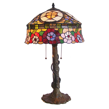 TL180005 18inch butterfly and flower tiffany table lights tiffany table lamp from Jiufa