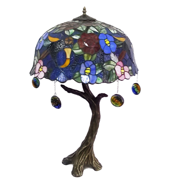 TL180013 18inch Tree root resin base tiffany table lights tiffany table lamp from Jiufa