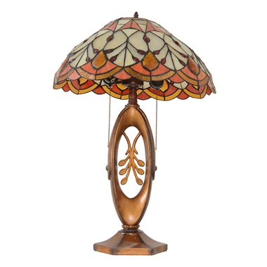 TL170003 17inch  flower tiffany table lights tiffany table lamp from Jiufa