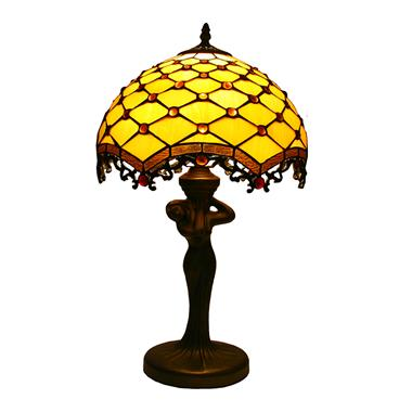 TL120003 12 inch  lady base tiffany lamp table lamp  gift for new house from China
