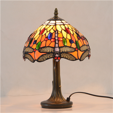 TL100008 10 inch resin base tiffany table lamp from China Jiufa