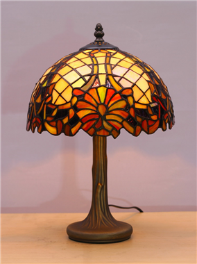 TL100009 10 inch resin base tiffany table lamp from China Jiufa