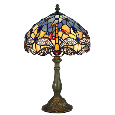 TL100011 10 inch resin base tiffany table lamp from China Jiufa