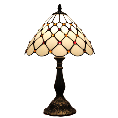 TL100012 10 inch resin base tiffany table lamp from China Jiufa