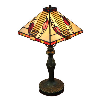 TL100013 10 inch resin base tiffany table lamp from China Jiufa
