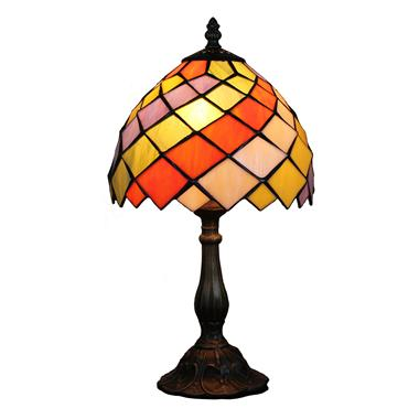 TL080035 8 inch resin base tiffany table lamp from China Jiufa