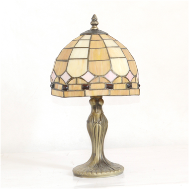 TL080033 8 inch resin base tiffany table lamp from China Jiufa