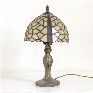 TL080034 8 inch resin base tiffany table lamp from China Jiufa