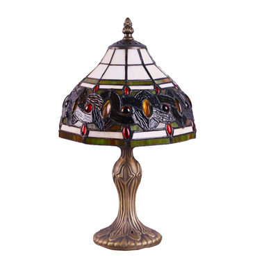 TL080036 8 inch resin base tiffany table lamp from China Jiufa