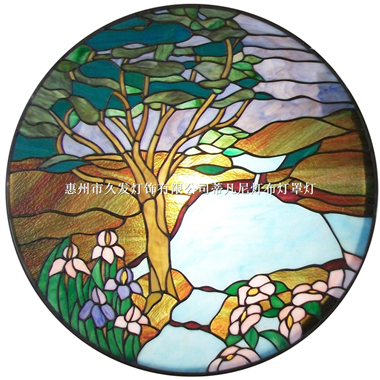 GP0030 Handcrafted Tiffany Style stained glass window and door panel suncatcher