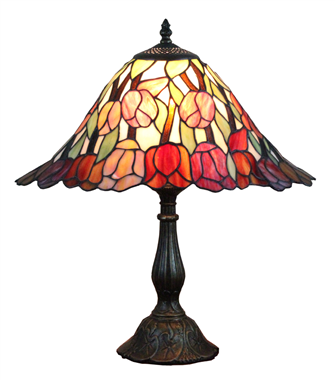 TL120014-square tiffany table lamp leaded glass table light