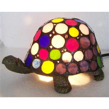 TLC00020-Multi color turtle tiffany table lamp