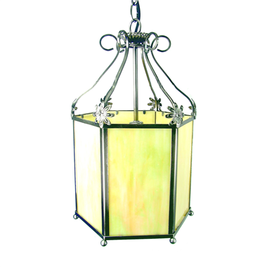 PL09001 9 inch Hexagon lantern desktop lamp pendant lamp two use