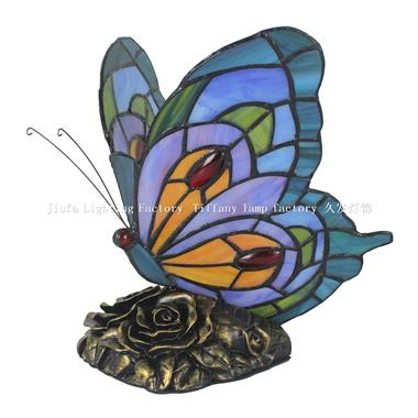 TLC00121 Blue Butterfly Tiffany Table Lamp