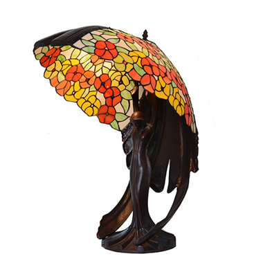 68cm High Big Lady Base Tiffany Lighting Art Table Lamp Complex Classic Stained Glass Lights
