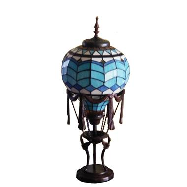 TLC00228 Tiffany Style Hot Air Balloon Accent Lamp