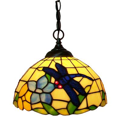 PL120002  dragonfly tiffany pendant light fine art lamp stained glass lampshade