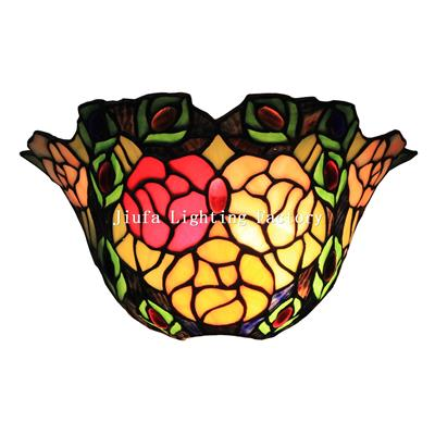 WL120003-rose flower tiffany wall sconce