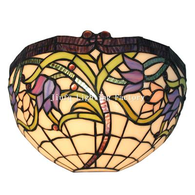 WL120014-stained glass art decor wall lamp
