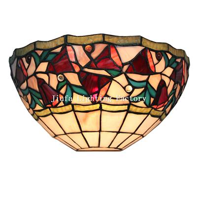 WL120016-Tiffany Style One Light Floral Wall Sconce Lamp