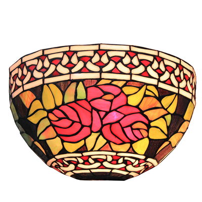 WL120020 12 inchTiffany style  stained glass art decor wall lamp