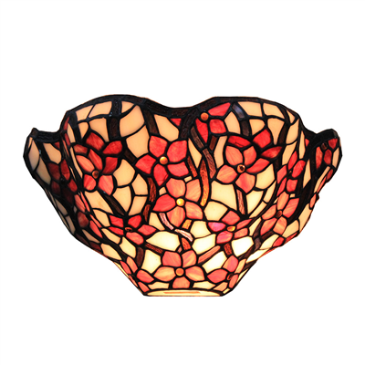 WL120022 12 inch flower tiffany wall sconce wall light  stained glass  wall lamp