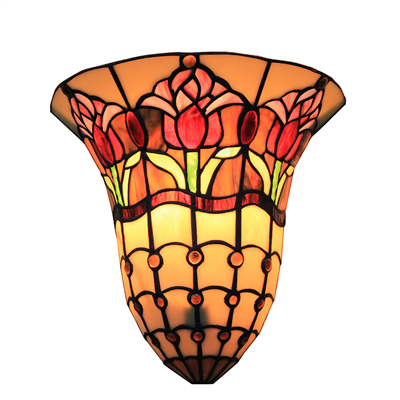 WL120025 12 inchTiffany wall sconce  stained glass wall lamp
