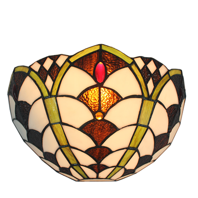 WL120033 12 inchTiffany wall sconce wall lights  stained glass wall lamp from jiufa