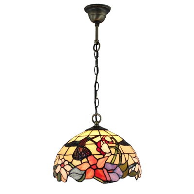 PL120005 12 inch Hummingbird tiffany pendant lighting