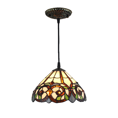 PL120009 12 inch  Tiffany Style Pendant Lamp stained glass hanging lighting