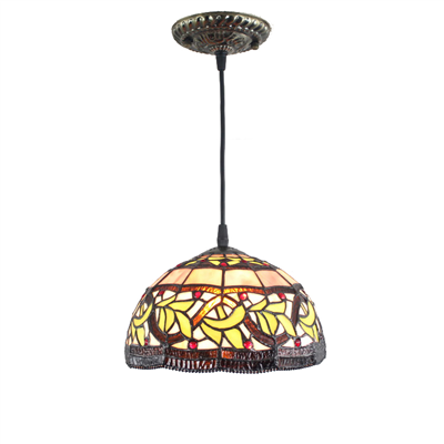 PL120010 12 inch Tiffany Style Pendant Lamp stained glass hanging lighting