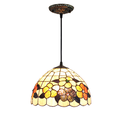 PL120011 12 inch Tiffany Style Pendant Lamp stained glass hanging lighting