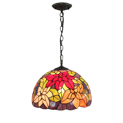 PL120012 12 inch Flower Tiffany Style Pendant Lamp stained glass hanging lighting