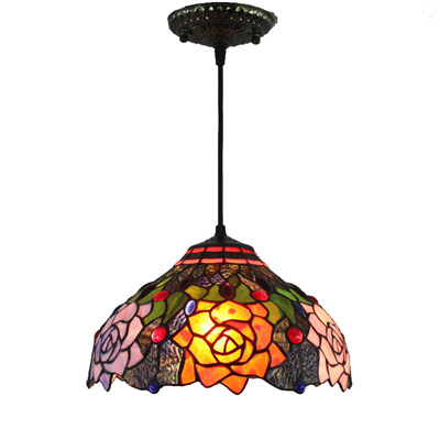 PL120015 12 inch Tiffany Style Pendant Lamp stained glass hanging lighting
