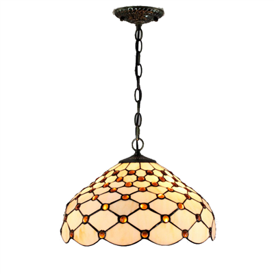 PL120021 12 inch Tiffany Style Pendant Lamp stained glass hanging lighting with chain