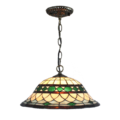 PL120026 12 inch Tiffany Style Pendant Lamp stained glass hanging lighting