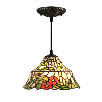 PL120028 12 inch  Spherical Tiffany Style Pendant Lamp stained glass hanging lighting