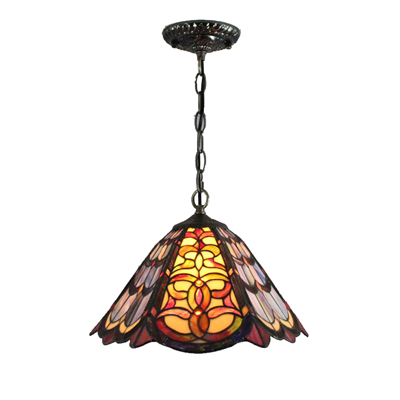 PL120029 12 inch Tiffany Style Pendant Lamp stained glass hanging lighting