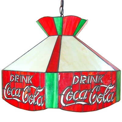 PL200001 20 inch Cocacola Advertisement Tiffany Style Pendant Lamp stained glass hanging lighting