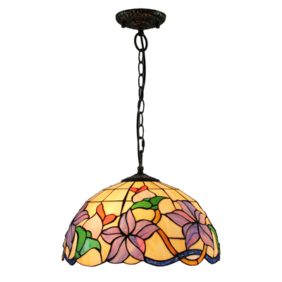 PL160004 16 inch Flower Tiffany Style Pendant Lamp stained glass hanging lighting